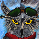 The Secert War, Aviator Owl / Original Painting